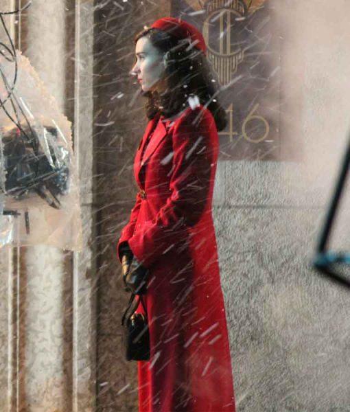 Nightmare Alley 2021 Rooney Mara Red Coat