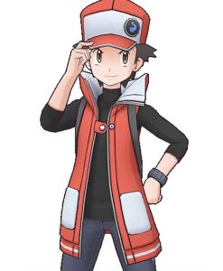 Pokemon Red Masters Leather Long Vest