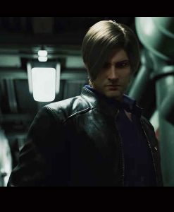 Resident Evil Infinite Darkness Black Leather Jacket