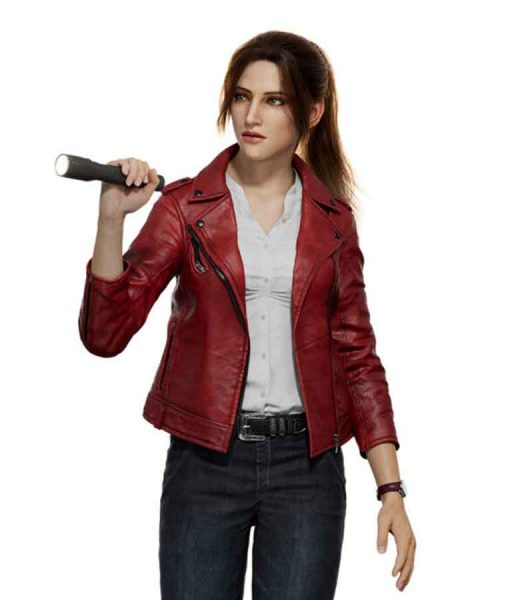 Resident Evil Infinite Darkness Red Leather Jacket