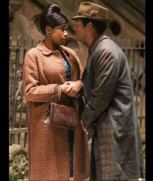 Jennifer Hudson Wool-blend Respect 2021 Aretha Franklin Coat