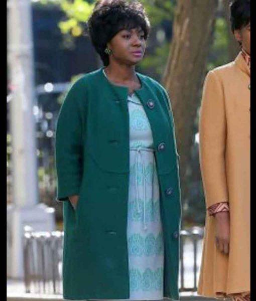 Hailey Kilgore Respect 2021 Carolyn Franklin Sea-Green Collarless Coat