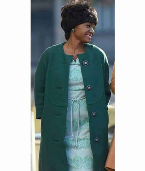 Respect 2021 Carolyn Franklin Sea-Green Collarless Coat