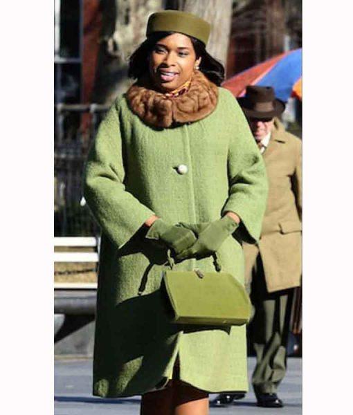 Respect 2021 Jennifer Hudson Green Coat With Fur Collar