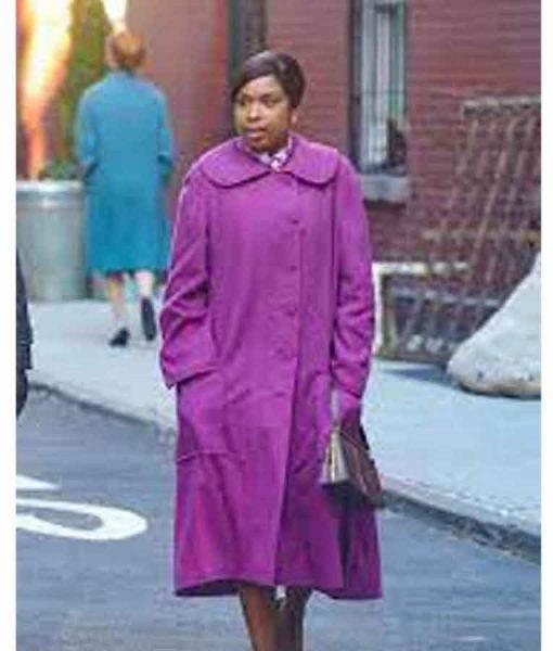 Aretha Franklin Respect 2021 Jennifer Hudson Purple Coat