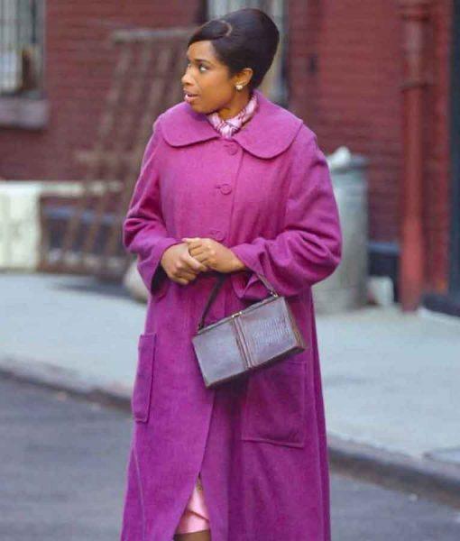 Respect 2021 Jennifer Hudson Purple Aretha Franklin Coat