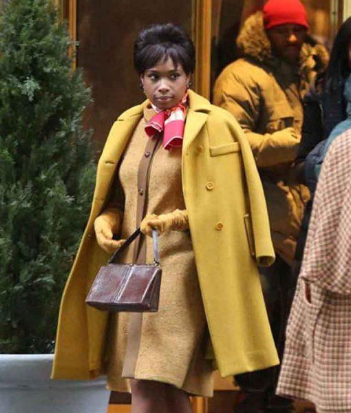 Respect 2021 Aretha Franklin Yellow Mid-length Coat