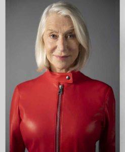 Helen Mirren Solos (2021) Peg Red Leather Jacket