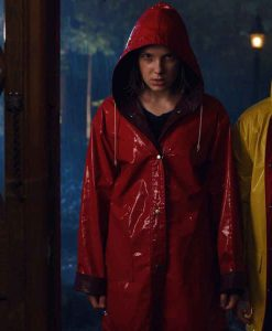 Stranger Things Season 04 Eleven Red Raincoat