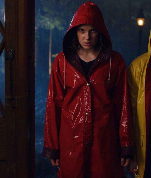 Stranger Things Season 04 Eleven Red Hooded Coat