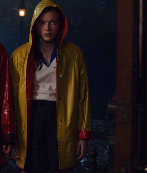 Stranger Things Season 04 Sadie Sink Rain Coat