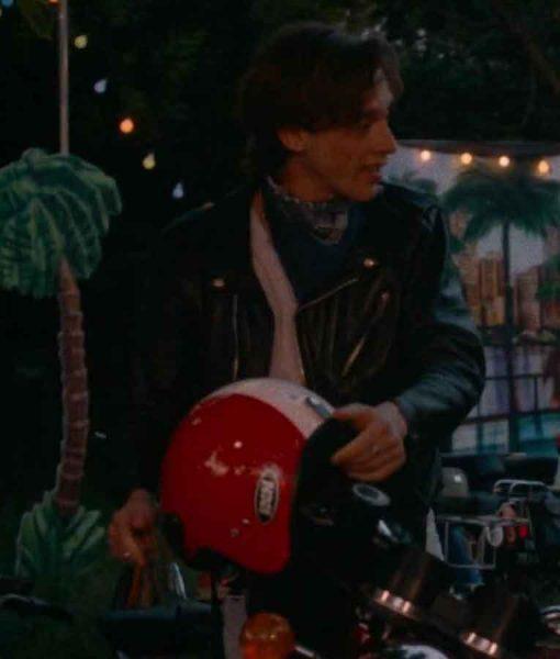 Benjamin Voisin Summer of 85 Leather Jacket