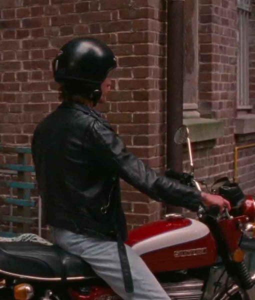 Summer of 85 David Black Leather Motorcycle Jacket
