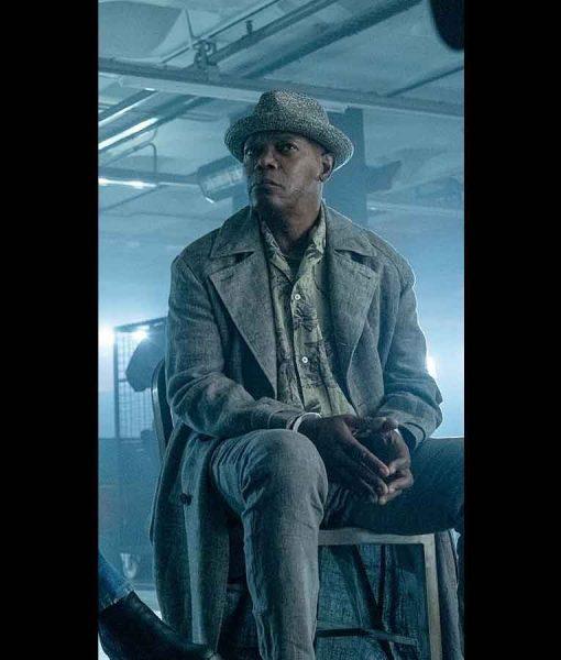 The Hitman's Wife's Bodyguard Darius Kincaid Grey Coat
