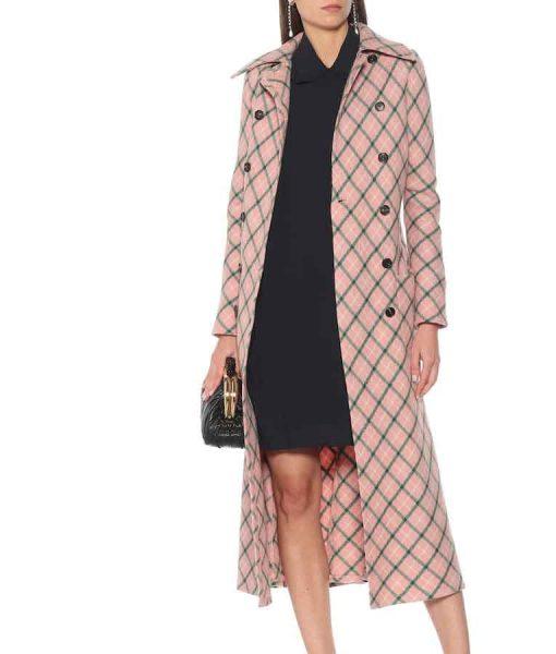 Younger Season 07 Lauren Heller Pink Checked Coat