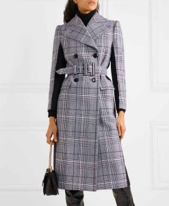 Younger Season 07 Liza Miller Grey and black Checked Coat