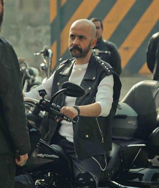 Çukur Season 04 Sahram Moto Leather Vest