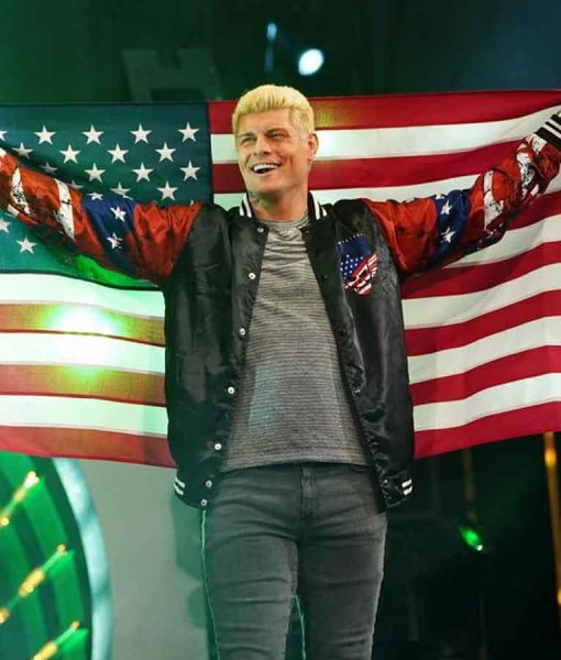 AEW Double or Nothing Cody Rhodes baseball Jacket