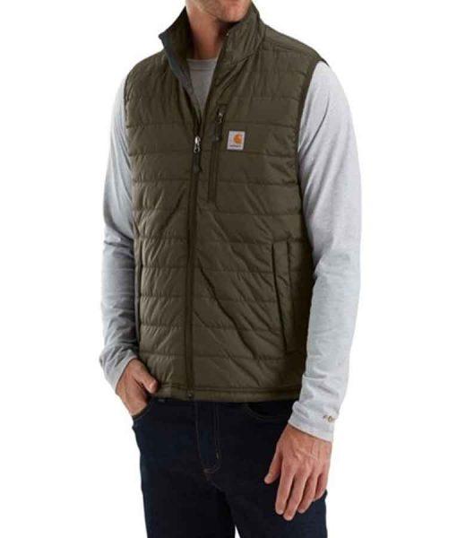 Atypical Doug Gardner Khaki Green Puffer Vest
