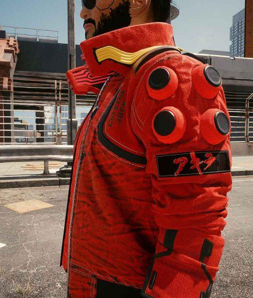 Red Bomber style Cyberpunk 2077 Akira Capsule Jacket