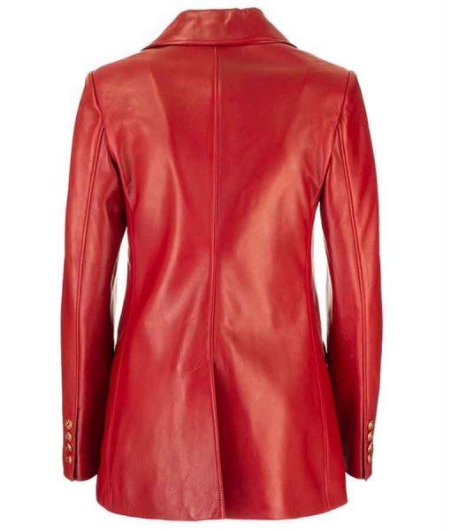 Dynasty Season 04 Fallon Carrington Red Leather Jacket