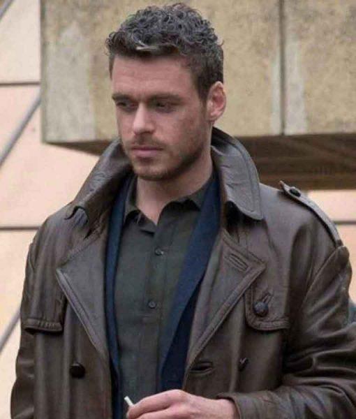 Eternals Ikaris Brown Leather Coat