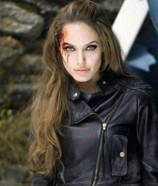 Eternals Thena Black Leather Jacket