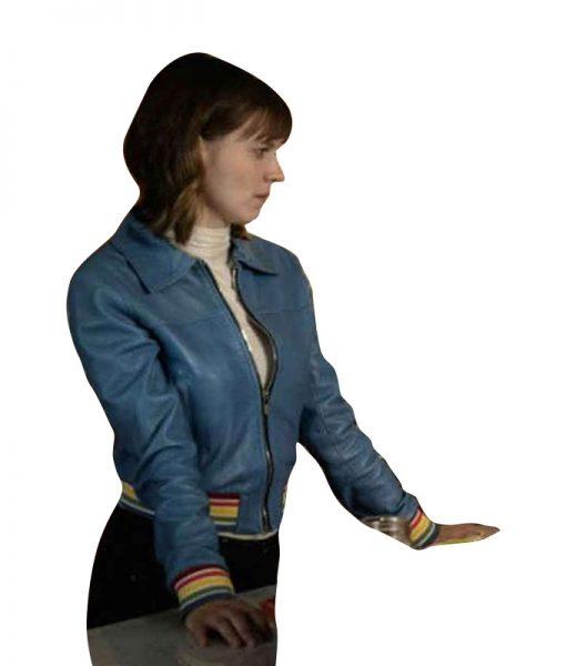Evil-Kristen-Bouchard-Blue-Leather-Jacket