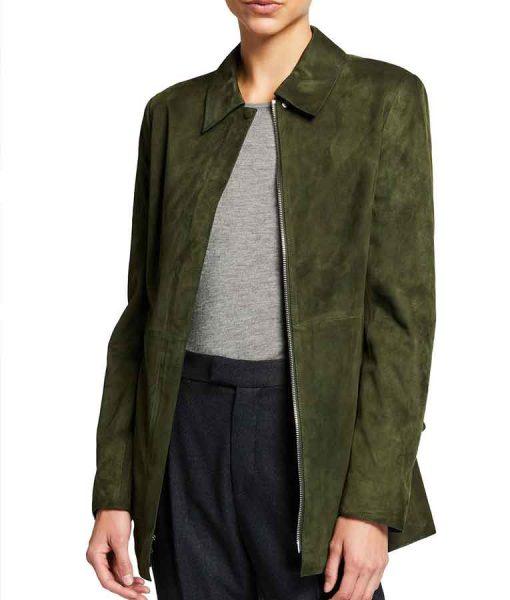 Evil S02 Kristen Bouchard Suede Leather Jacket