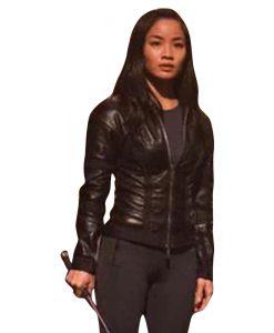 Anna Sawai F9 Elle Black Leather Jacket