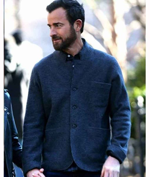 False Positive 2021 Justin Theroux Grey Wool-blend Blazer