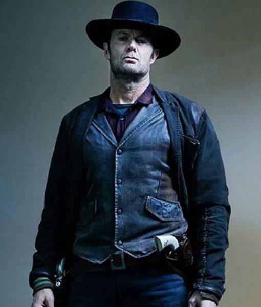 Fear The Walking Dead John Dorie Brown Leather Vest