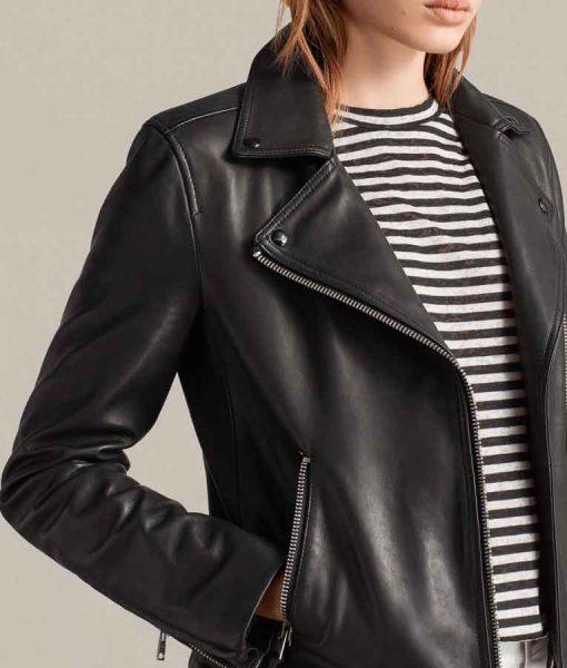 Fear The Walking Dead S06 Alicia Clark Black Leather moto Jacket