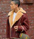Gossip Girl 2021 Jordan Alexander Shearling Jacket