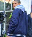 Gossip Girl 2021 Julien Calloway Blue Bomber Jacket