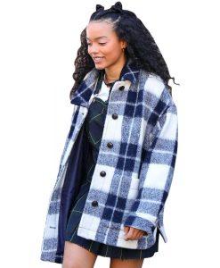 Whitney Peak Gossip Girl 2021 Zoya Lott Plaid Jacket
