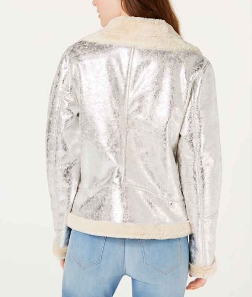 High School Musical The Musical The Series Kourtney Shearling Silver Jacket