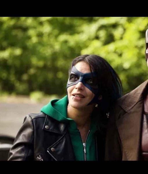 How I Became a Super Hero Callista Black Leather Jacket