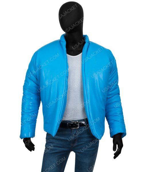 Kanye West Yeezy Gap Blue Puffer Jacket