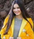 Landry Bender Yellow Fur Jacket With Hood