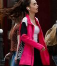 Lily Collins Emily in Paris Season 02 Emily Cooper 1997 Pink Jacket