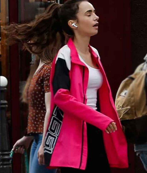 Emily in Paris Season 02 Lily Collins Pink Jacket