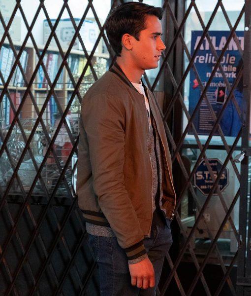 Love, Victor Season 02 Victor Salazar Grey Bomber Jacket
