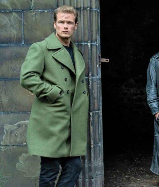 Men in Kilts Wool-blend Sam Heughan Green Coat