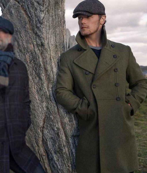 Men in Kilts Sam Heughan Green Coat