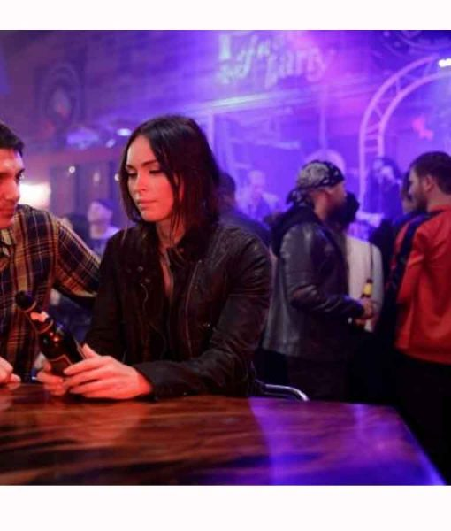 Midnight in the Switchgrass Megan Fox Leather Jacket