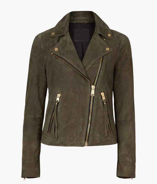 New Amsterdam S03 Helen Sharpe Suede Moto Jacket