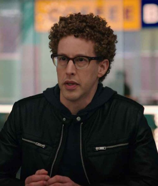 Noah WeisbergZoey's Extraordinary Playlist S02 Danny Michael Davis Leather Jacket