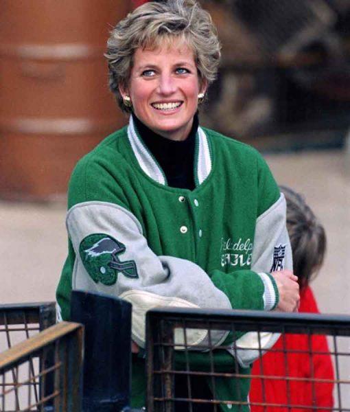 Princess Diana Philadelphia Eagles Letterman Jacket