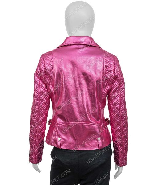 SexLife (2021) Billie Connelly Pink PU Leather Jacket